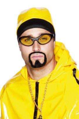 coole brille mit gelben gl sern rapper party karneval. Black Bedroom Furniture Sets. Home Design Ideas