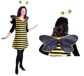 biene kost m bienchen karneval fasching haareif kleid ebay. Black Bedroom Furniture Sets. Home Design Ideas