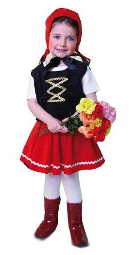 Rotkaeppchen-Kostuem-Rock-Weste-Haube-Kinder-Karneval-Maerchen-untersch-Groessen