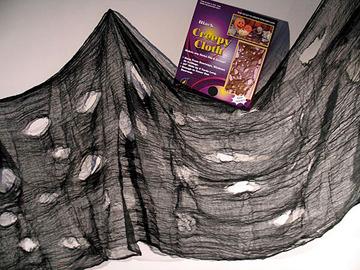 Lumpengewebe Spinnennetz Dekoration Halloween:grün/grau o.weiß o.schwarz
