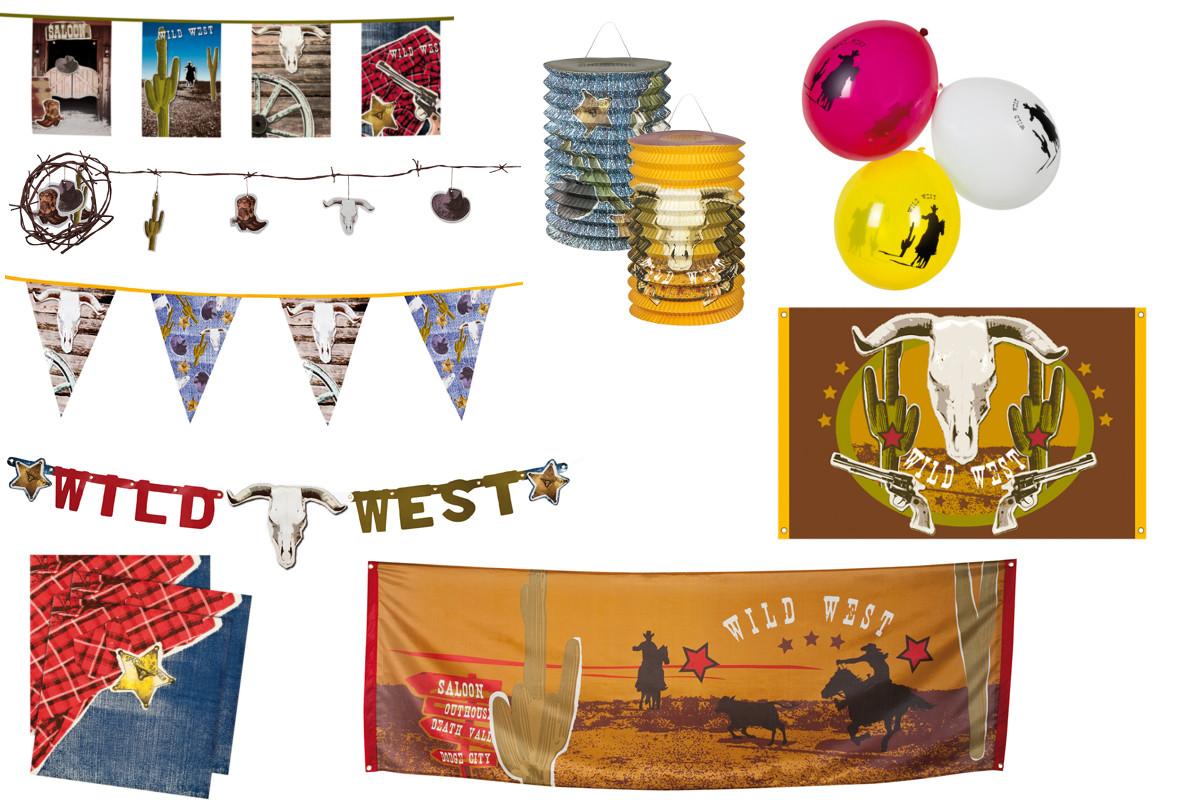 Western Saloon Cowboy Dekoration Party Servietten