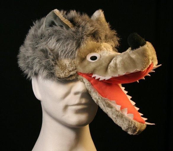 wolfsm tze wolf m rchen theater lustige m tzen tierhut karneval ebay. Black Bedroom Furniture Sets. Home Design Ideas