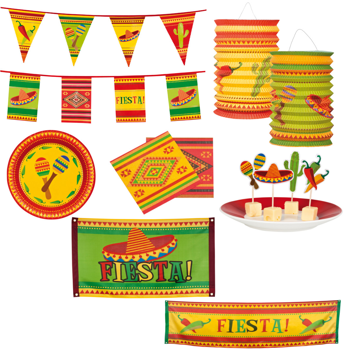 Fiesta mexico party mottoparty deko feier servietten for Mottoparty deko