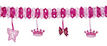 Girlande Krone Princess Geburtstag Party Deko 4m Prinzessin