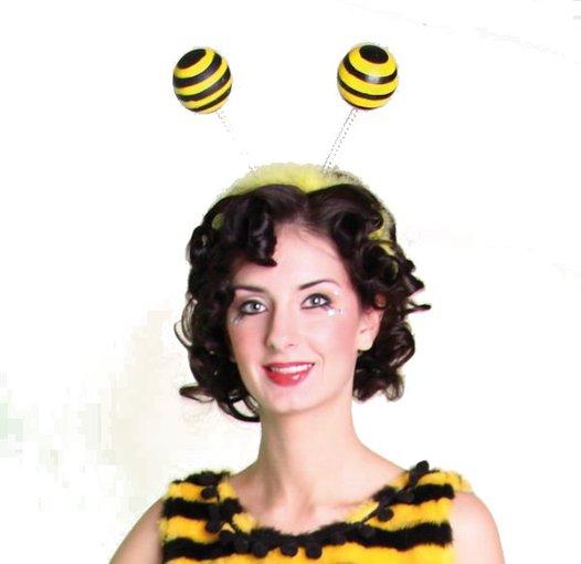 Haarreif Mit Fuhlern Kopfbugel Biene Bienenfuhler Karneval Fasching