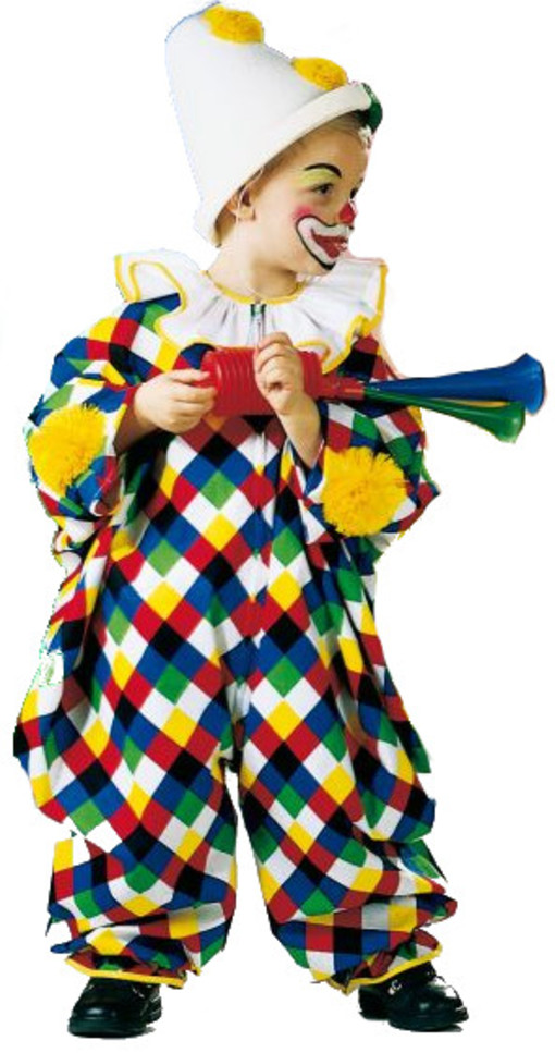 buntes clown kost m zirkus manege overall kinder untersch gr en 118122. Black Bedroom Furniture Sets. Home Design Ideas
