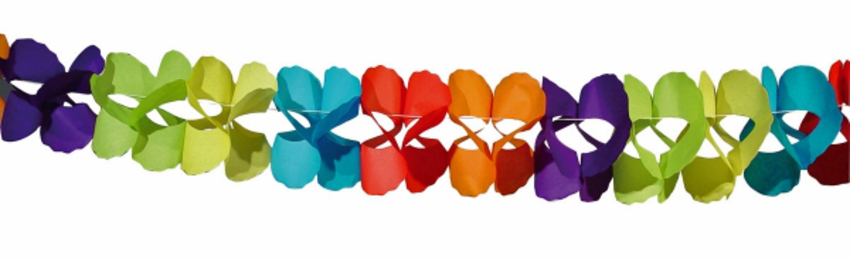 Bunte girlande coral festival 6m deko party geburtstag for Dekoration 70iger jahre
