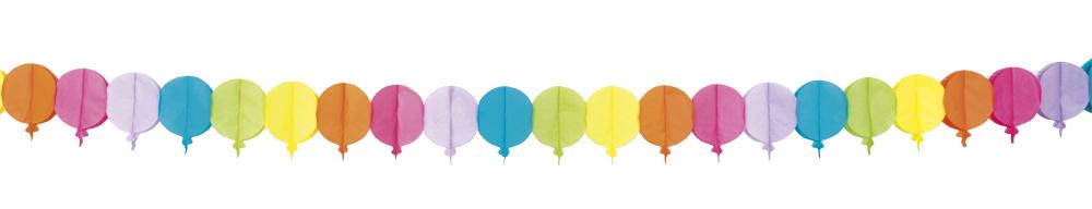 Bunte girlande luftballons 4 meter deko karneval motto for Dekoration 70iger jahre