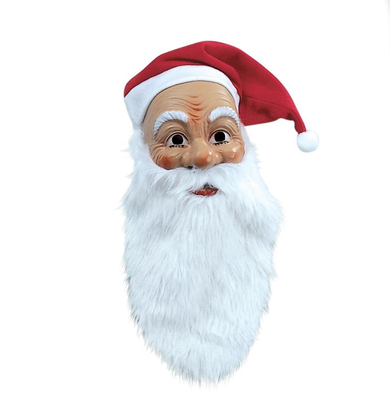 nikolausmaske weihnachtsmann maske mit m tze bart nikolaus ebay. Black Bedroom Furniture Sets. Home Design Ideas