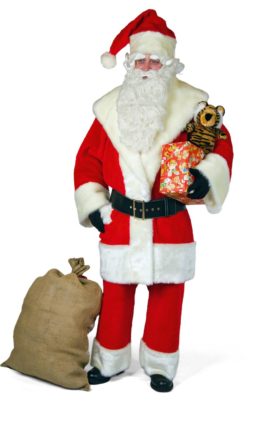 hochwertiger weihnachtsmann nerz 4 teilig anzug nikolaus. Black Bedroom Furniture Sets. Home Design Ideas