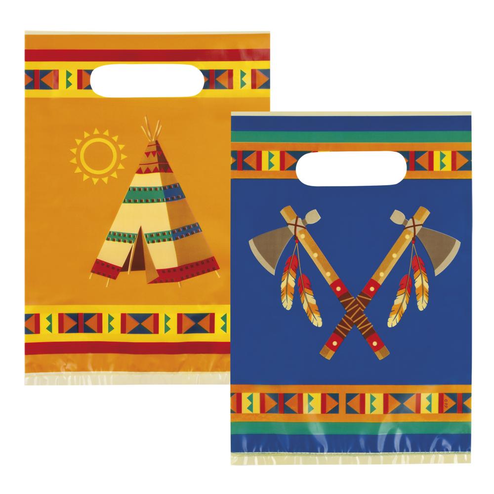 Partybeutel indianer 6 st ck geschenkt te geburtstag for Dekoration 70iger jahre