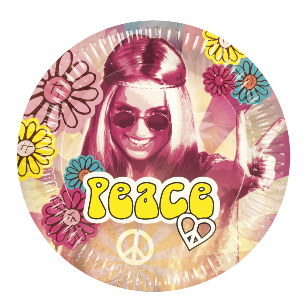 Peace Hippie Flower Power Dekoration Party Mottoparty