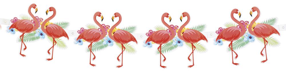 Flamingo aloha girlande 3 meter dekoration hawaii party for Dekoration 70iger jahre