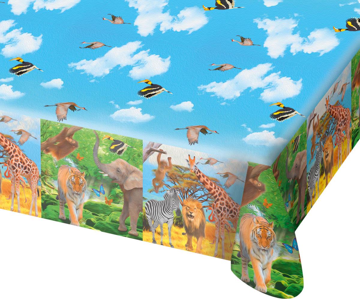 tischdecke 180 x 130 cm safari dekoration kindergeburtstag tiere giraffe. Black Bedroom Furniture Sets. Home Design Ideas