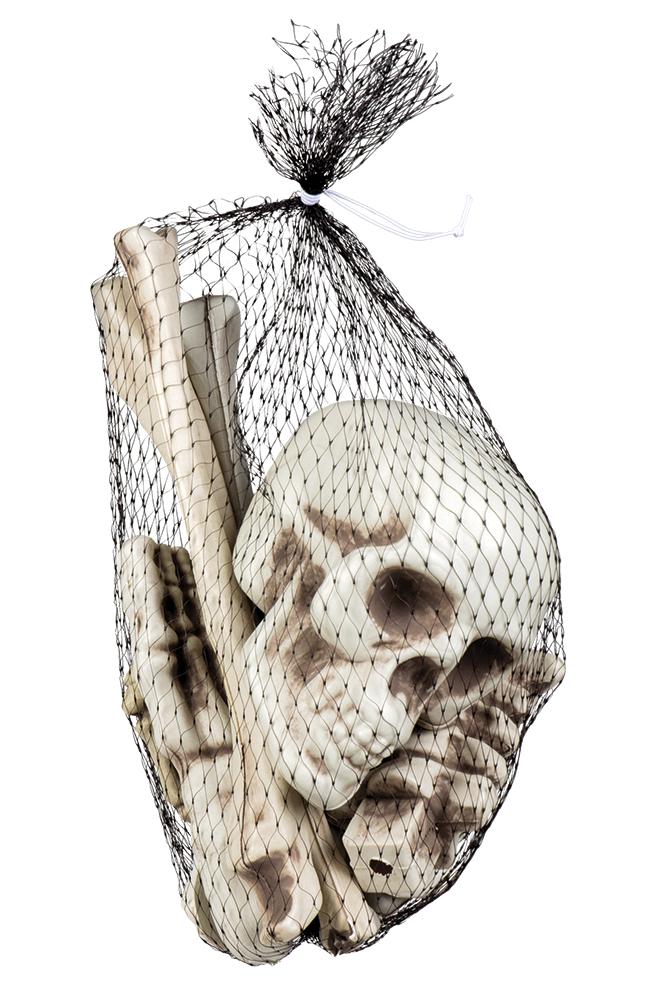 Skelettteile Knochen 12-teilig Horror Schädel GebeineHalloween ...