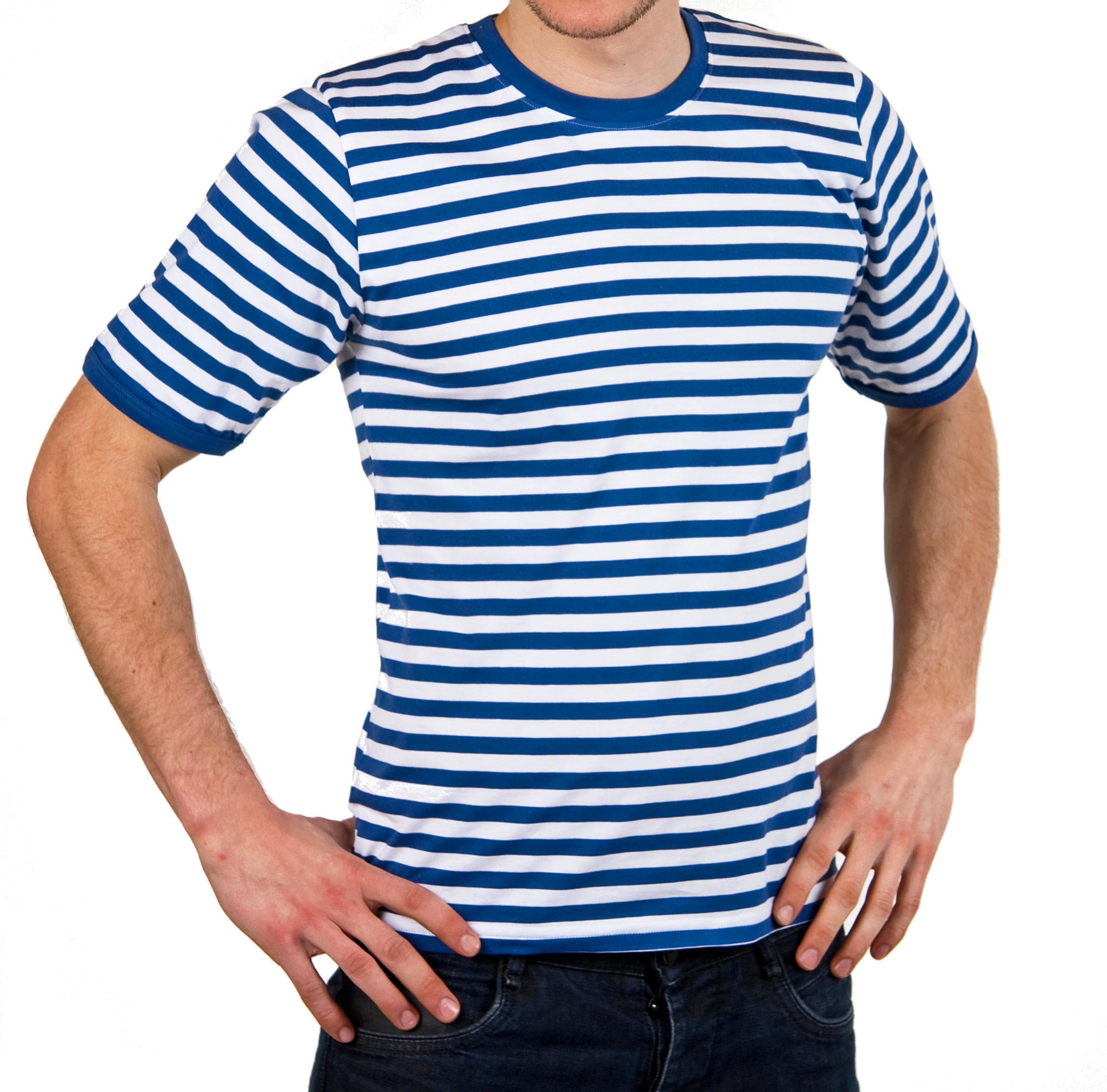 blau wei es halbarm ringelshirt gr xl ringelpulli matrose shirt. Black Bedroom Furniture Sets. Home Design Ideas