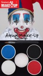 Aqua Make-Up Set Clown Pantomime Schminke Karneval Fasching