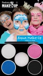 Aqua Make-Up Set Prinzessin blau Schminke Kinderschminke Karneval
