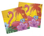 12 x Servietten Hawaii Tischdeko Dekoration Party Flamingo Motiv