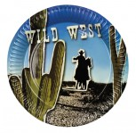 6 Stck x Teller Cowboy Wilder Westen Western Dekoration Party