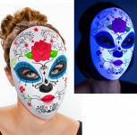 Tag der Toten Maske mit Rose Dame Day of the Dead Mexiko Karneval