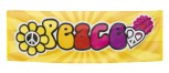 Banner Peace Hippie 220 cm x 74 cm Dekoration Flower Power Peace Herz