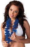 blaue Hawaii Kette Blumenkette Hula Beachparty Südsee Party