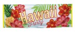 Banner 220cm x 74cm Hawaii Party Beach Hibiskus Dekoration