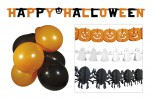 Halloween Deko Party Set: Girlande Geist Kürbis Spinne Banner Lu
