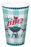 BBQ  8 x Party Becher Grillfest Party Dekoration Pappbecher