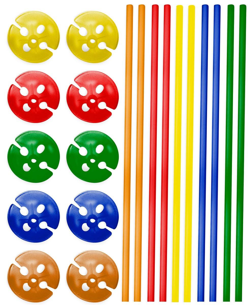 10 x bunte Luftballon Stäbe Dekoration Feier Geburtstag