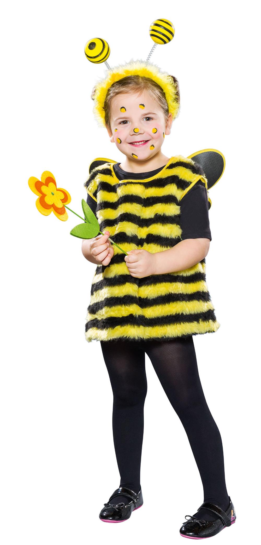Bienenkostum Gr 92 Madchen Kleid Mit Flugel Biene Tierkostum Kostum