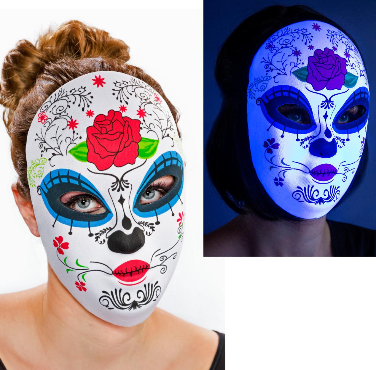 Tag der Toten Maske mit Rose Dame Day of the Dead Mexiko Karneval