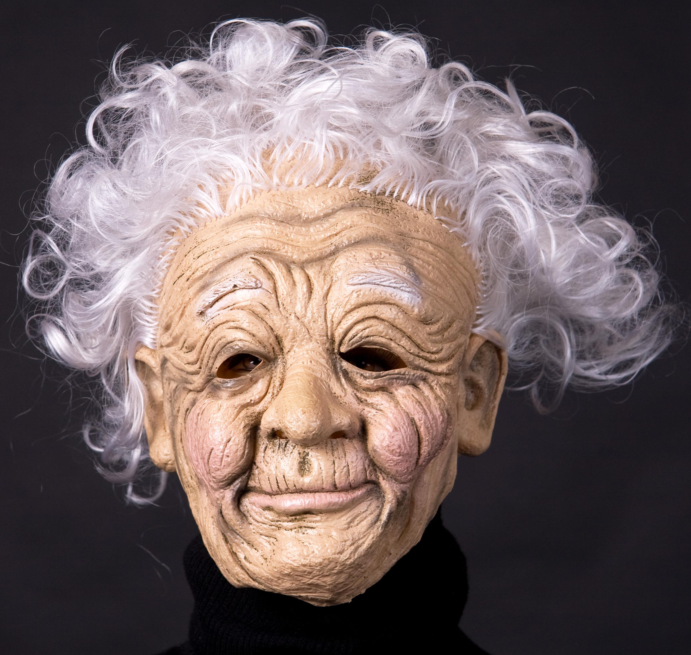 runzlige Oma Großmutter Maske Omamaske Alte Halbmaske Karneval ...