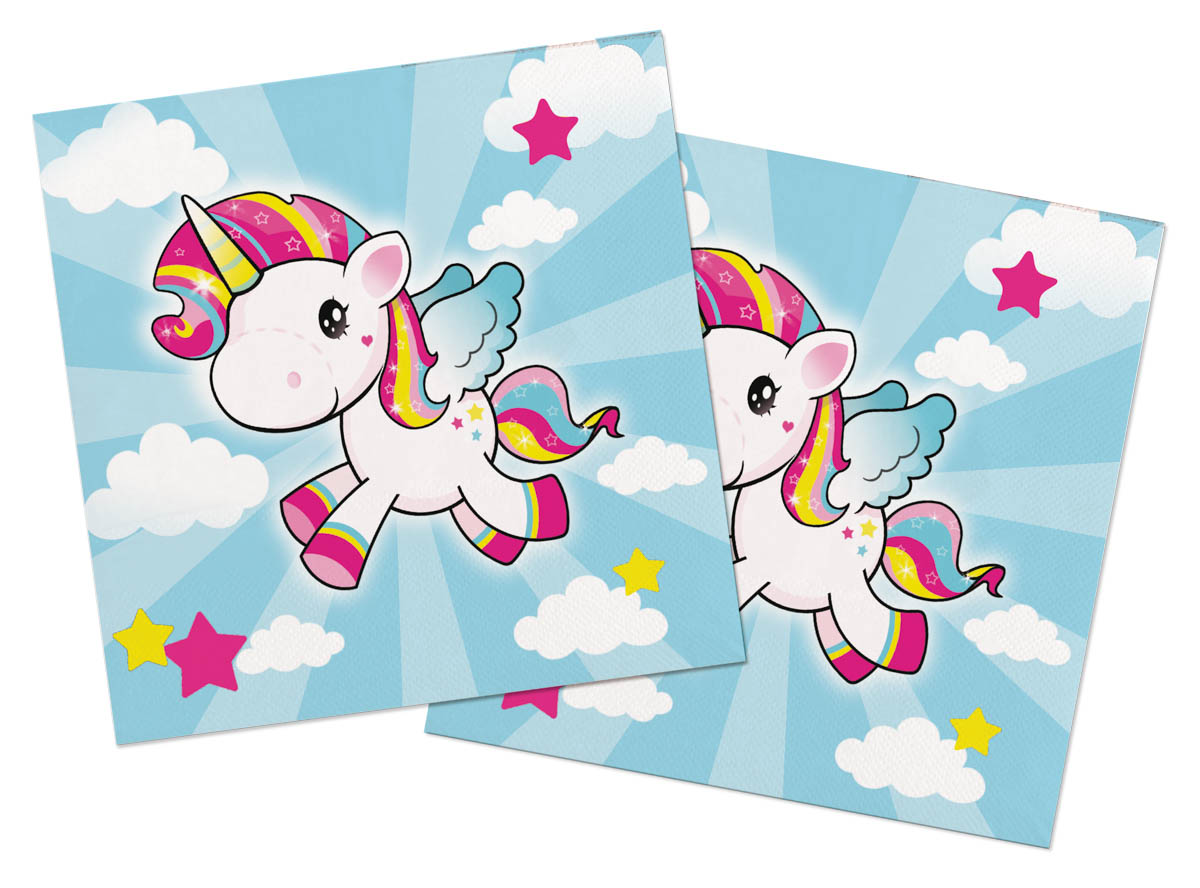 Servietten Einhorn 20 Stuck Unicorn Tischdeko 33 Cm Dekoration Party